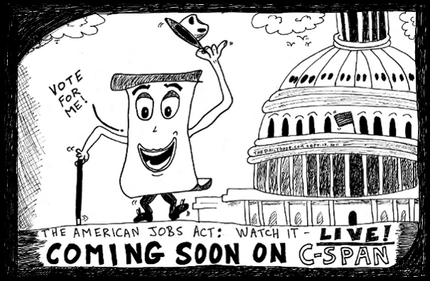 The American JOBS ACT Political cartoon and Top 10 American JOBS ACT ...